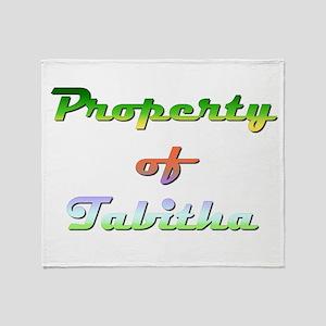 Property Of Tabitha Female Throw Blanket