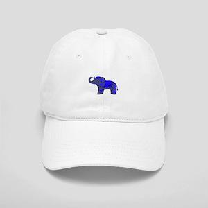 Henna Elephant (Blue/grey) Baseball Cap