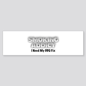 Smoking Addict Bumper Sticker