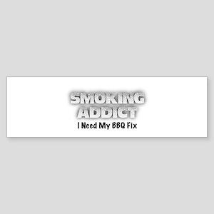 Smoking Addict Bumper Sticker