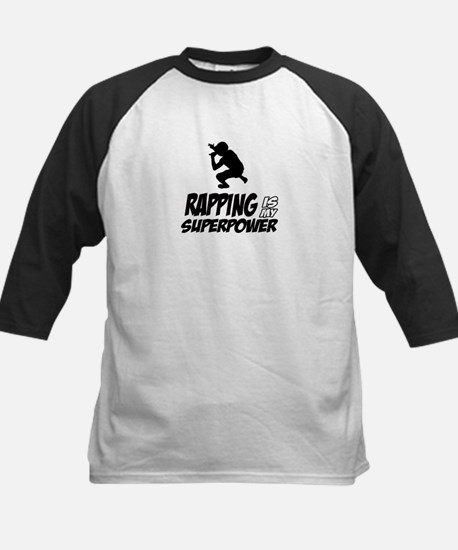 Rapping is my Superpower Kids Baseball Jersey