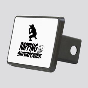 Rapping is my Superpower Rectangular Hitch Cover