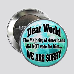 "Dearest World Sorry 2.25"" Button (10 Pack)"