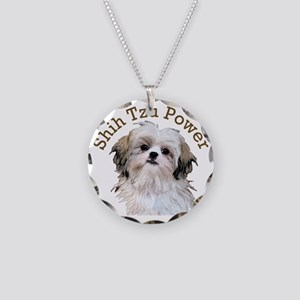 Shih Tzu Power Necklace Circle Charm
