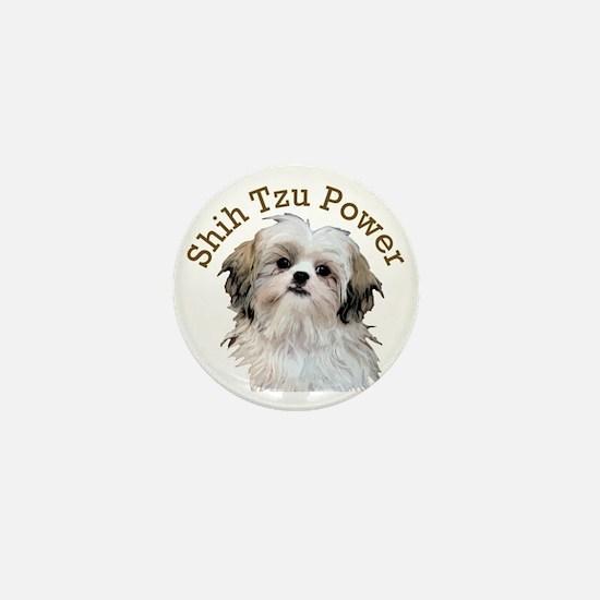 Shih Tzu Power Mini Button