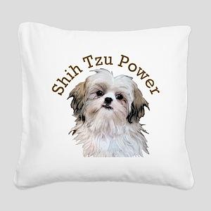 Shih Tzu Power Square Canvas Pillow