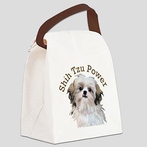 Shih Tzu Power Canvas Lunch Bag