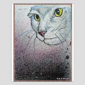 Cat, cat face, art Posters