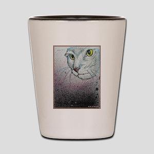 Cat, cat face, art Shot Glass