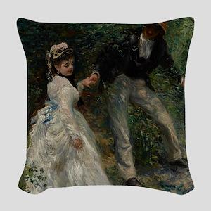 La Promenade, 1870 Woven Throw Pillow