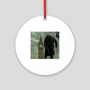 Winston Churchill Round Ornament