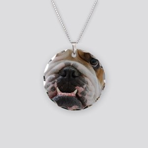 bulldog Necklace Circle Charm