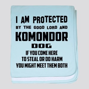 I am protected by the good lord and K baby blanket