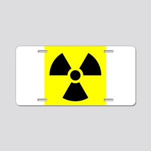 Radiation Warning Aluminum License Plate
