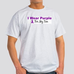 I Wear Purple For My Son Ash Grey T-Shirt