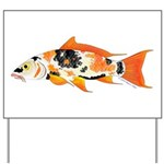 Koi carp Yard Sign