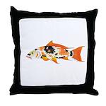Koi carp Throw Pillow