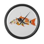 Koi carp Large Wall Clock