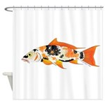 Koi carp Shower Curtain