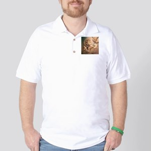 """He is our Peace"" Christian Fine Art Golf Shirt"