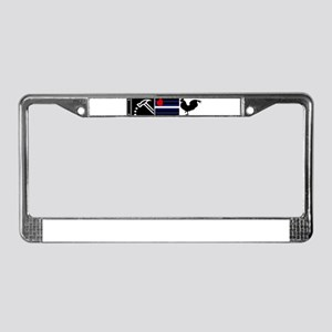 I pound leather cock License Plate Frame