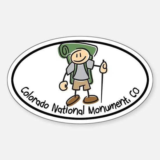 Colorado Nat Monum-Boy Hiker Oval Sticker (Oval)