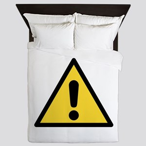 Warning sign Queen Duvet