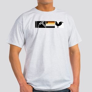 I pound Bear Cock Ash Grey T-Shirt