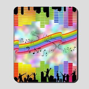 Colorful Musical Theme Mousepad