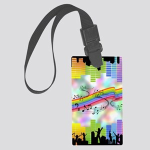 Colorful Musical Theme Large Luggage Tag