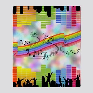 Colorful Musical Theme Throw Blanket