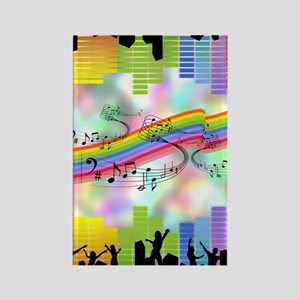 Colorful Musical Theme Rectangle Magnet