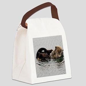 California Sea Otter Canvas Lunch Bag