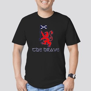 The brave Scottish lio Men's Fitted T-Shirt (dark)