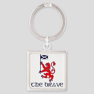 The brave Scottish lion Square Keychain