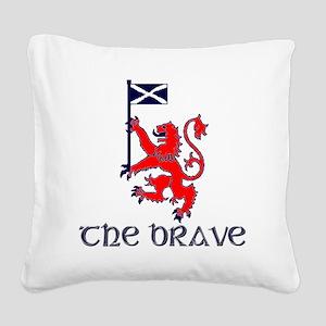 The brave Scottish lion Square Canvas Pillow