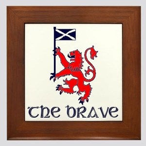 The brave Scottish lion Framed Tile
