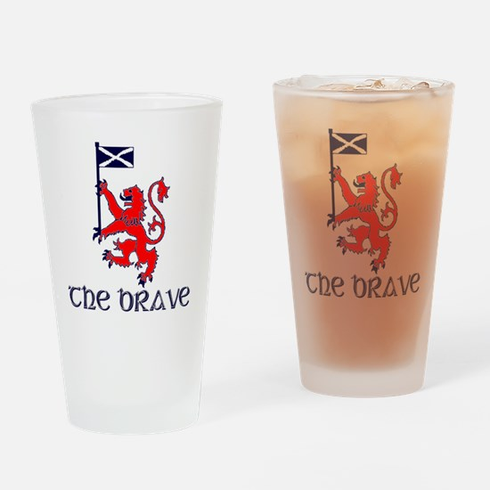 The brave Scottish lion Drinking Glass