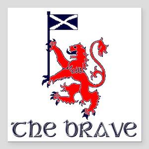 "The brave Scottish lion Square Car Magnet 3"" x 3"""