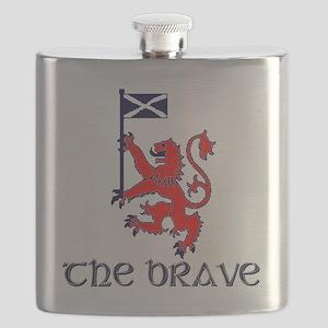 The brave Scottish lion Flask
