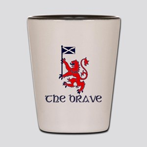 The brave Scottish lion Shot Glass