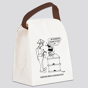 Worker Bees  A Union Negotiator Canvas Lunch Bag