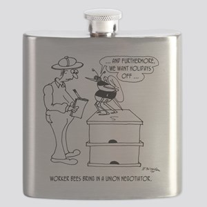 Worker Bees  A Union Negotiator Flask
