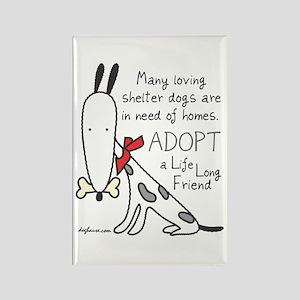 Life Long Friend (Dog) Rectangle Magnet