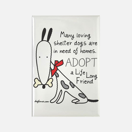 Life Long Friend (Dog) Rectangle Magnet