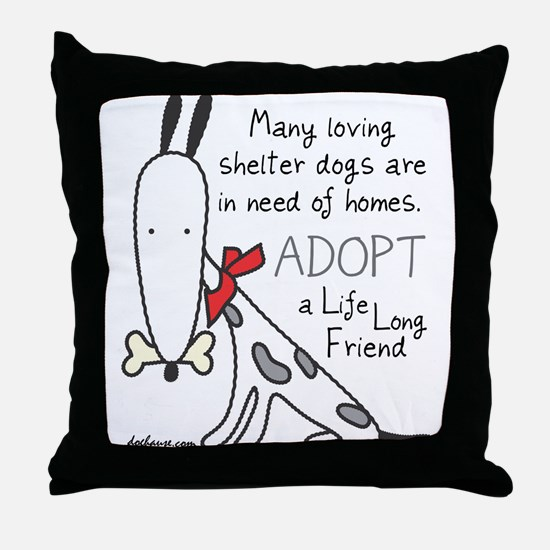 Life Long Friend (Dog) Throw Pillow