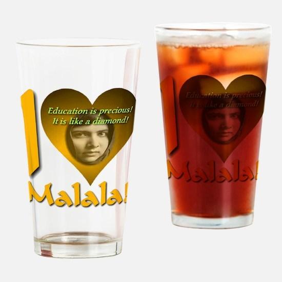 I (Heart) Malala Drinking Glass