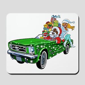 Muscle Car Santa Mousepad