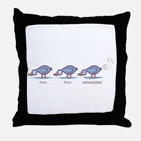 Duck Duck Gooz Throw Pillow
