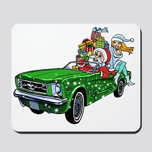 Muscle Car Santa Mousepad